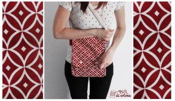 la borsa della nonna, unica nel suo genere, prodotta con un tessuto a design vintage