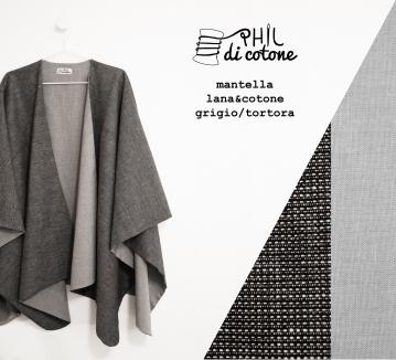 mantella frescolana grigio e cotone tortora
