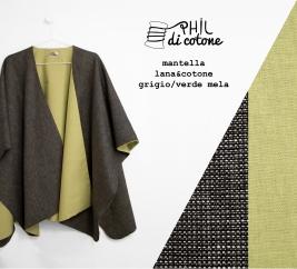 mantella frescolana grigio e cotone verde mela